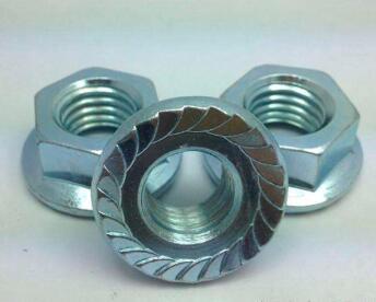 ANSI hex flange nut සින්ක් ආලේපිත a563